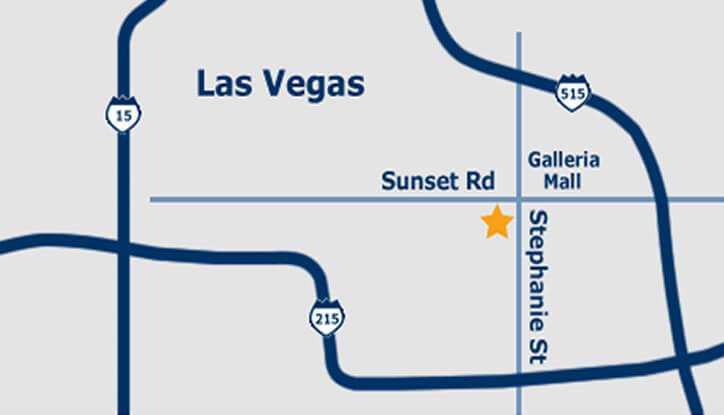 Map to Las Vegas Jewelry and Coin