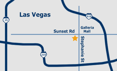 small map to las vegas jewelry and coin buyers