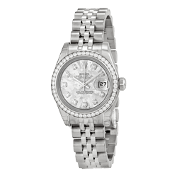 All Silver Rolex Watch